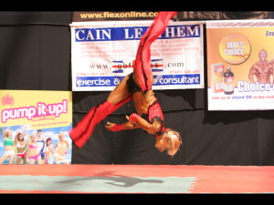 Andi Black mid routine. Winning every show that she entered whilst being trained by Cain.