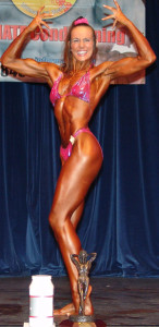 Kirsty Kent winning the Natural World Championships.
