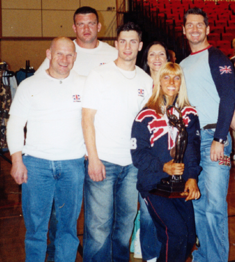 Andi Black with her Ms. Universe trophy...and Cain with Team GB Fitness.